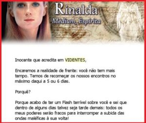 RINALDA VIDENTE FARSA RECLAME AQUI